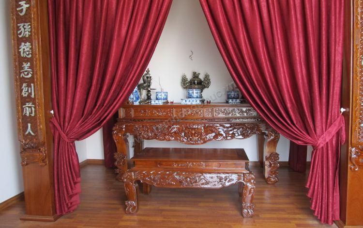 Tư vấn cách lựa chọn rèm phòng thờ Đẹp Nhất - Phù hợi với nội thất phòng thờ