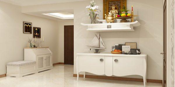 Mẫu bàn thờ treo không chỉ có chất lượng đảm bảo mà kiểu dáng còn rất trang trọng