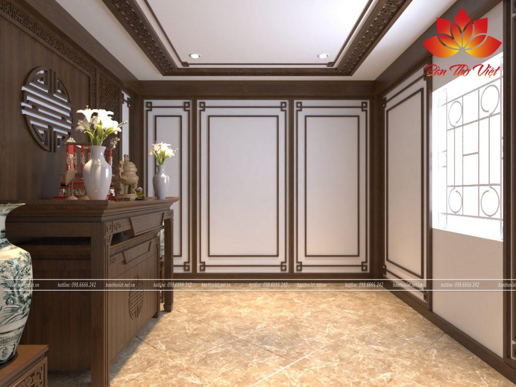 Cách thiết kế phòng thờ sang trọng, phong thủy, chuẩn nội thất