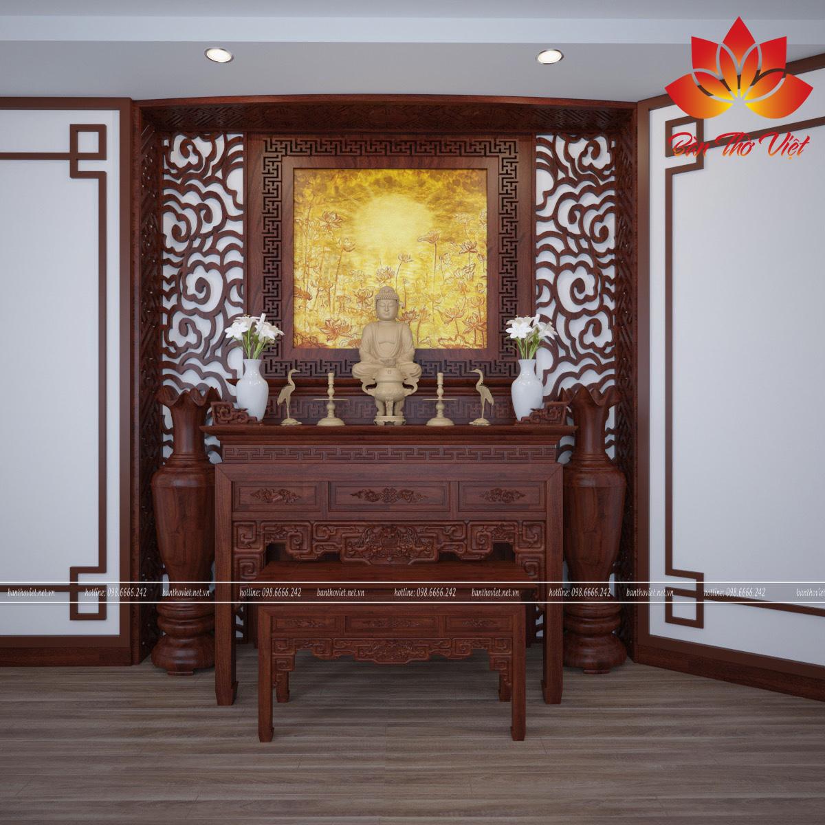 Trọn bộ dịch vụ thi công phòng thờ ở Việt Trì từ A - Z sẽ không khiến bạn phải thất vọng