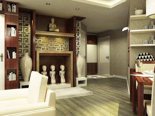 Trong không gian chung cư nhỏ hẹp, mẫu bàn thờ treo sẽ tiết kiệm nhiều diện tích